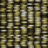Bloque de fondo generado inconsútil de la textura de las monedas Foto de archivo libre de regalías
