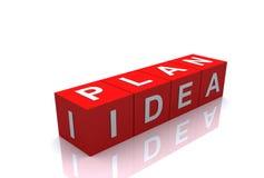 Bloque de la idea del plan Imagen de archivo libre de regalías