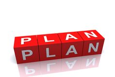 Bloque de la idea del plan Fotografía de archivo libre de regalías