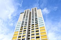 Bloque de la vivienda de protección oficial HDB de Singapur Foto de archivo libre de regalías