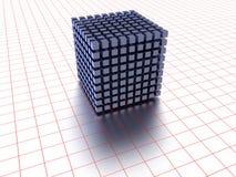 Bloque de los cubos que forman el cuadrado Fotos de archivo