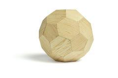 Bloque de madera de la bola Imagen de archivo libre de regalías
