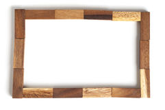 Bloque de madera del marco abstracto Imagen de archivo