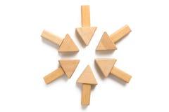 bloque de madera en el fondo blanco Foto de archivo libre de regalías
