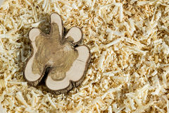 Bloque de madera en microprocesadores Imagen de archivo