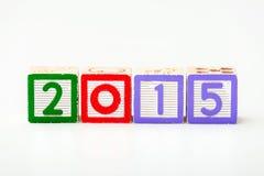 Bloque de madera por el año 2015 Imagen de archivo libre de regalías