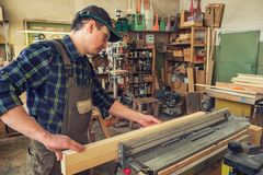 Bloque de madera previsto carpintero imagen de archivo