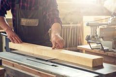Bloque de madera previsto carpintero fotografía de archivo
