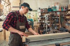 Bloque de madera previsto carpintero foto de archivo