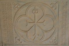 Bloque de piedra arenisca decorativo cincelada fotos de archivo libres de regalías