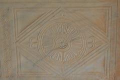Bloque de piedra arenisca decorativo cincelada fotografía de archivo