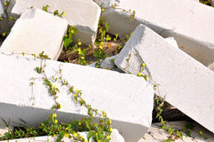 Bloque de piedra como materia prima para la construcción Imagen de archivo libre de regalías