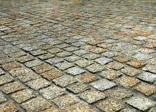 Bloque de piedra que pavimenta Fotografía de archivo