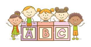 Bloque del alfabeto de ABC libre illustration