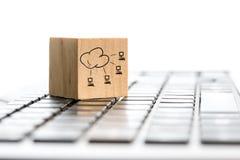 Bloque del establecimiento de una red en el teclado de ordenador Fotografía de archivo libre de regalías