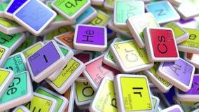 Bloque del helio en la pila de tabla periódica de los bloques de los elementos químicos libre illustration