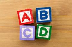 Bloque del juguete de ABCD Fotos de archivo