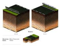 bloque del paisaje 3D Foto de archivo libre de regalías