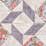 Bloque geométrico en colores pastel de pedazos de telas, detalle del remiendo del edredón, primer stock de ilustración