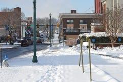 Bloque nevado Fotos de archivo