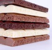 Bloque poroso de las barras de chocolate Fotos de archivo