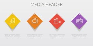 Bloquea la plantilla del texto del número del elemento del infographics Ilustración del vector puede ser utilizado para la dispos ilustración del vector