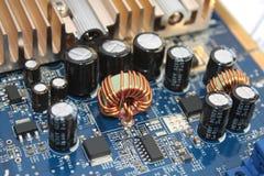 Bloqueador na placa de circuito imagens de stock