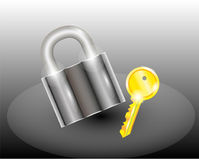 Bloquee con clave Foto de archivo libre de regalías