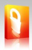 Bloquee el conjunto del rectángulo del concepto de la seguridad Imagen de archivo
