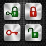 Bloquee los iconos fijados. ilustración del vector
