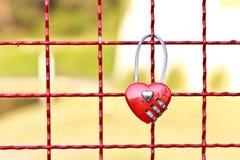 Bloquee su amor Imagen de archivo libre de regalías