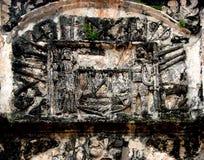 Bloqueie o detalhe, Porta de Santiago, um forte de Famosa, Malacca, Malásia Foto de Stock