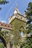 Bloqueie a torre no castelo de Vajdahunyad, parque da cidade de Budapest, Hungria Fotos de Stock Royalty Free