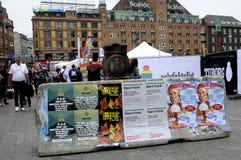 BLOQUEIO NA CÂMARA MUNICIPAL DE COPENHAGA QUADRADA Orgulho de Copenhaga Foto de Stock
