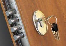Bloqueo casero y claves Fotografía de archivo libre de regalías