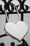 Bloqueo-Corazón Fotografía de archivo libre de regalías