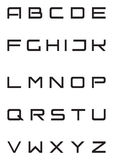 Bloqueo de casquillos terminante de la fuente del alfabeto encendido   Fotografía de archivo libre de regalías