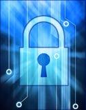 Bloqueo de la seguridad de la informática Imagen de archivo libre de regalías