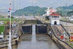 Bloqueo de Pedro Miguel del canal de Panamá Foto de archivo libre de regalías