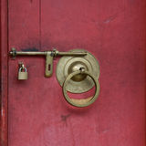 Bloqueo de puerta Foto de archivo libre de regalías