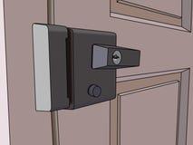 Bloqueo de puerta ilustración del vector