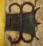 Bloqueo de puerta antiguo fotos de archivo