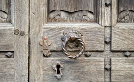 Bloqueo de puerta viejo Fotografía de archivo