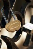Bloqueo del amor Fotografía de archivo libre de regalías