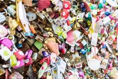 Bloqueo del amor imagen de archivo libre de regalías