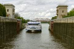 Bloqueo del río Imagenes de archivo
