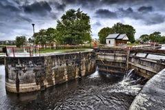 Bloqueo del vintage en el río de Shannon Foto de archivo libre de regalías
