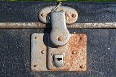 Bloqueo oxidado foto de archivo