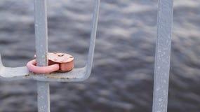 Bloqueo rosado Fotografía de archivo libre de regalías