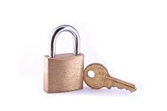 Bloqueo y clave Imagen de archivo